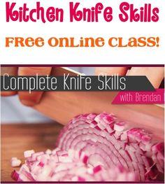 Learn Kitchen Knife Skills! {FREE online class!}