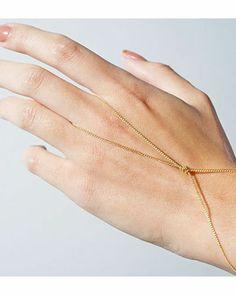 Gold Infinity Hand Chain.