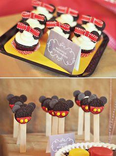 mice, mous birthday, mickey mouse birthday, oreo pops, birthday parties, minnie mouse, mickey birthday party cupcakes, mous parti, parti idea