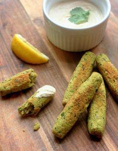 Baked Falafel Finger Food #fingerfood #vegan #appetizers