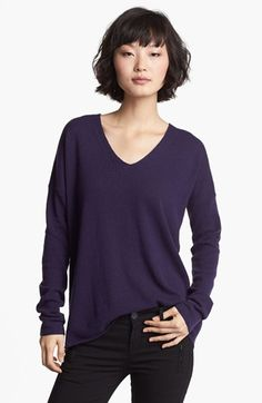 Vince V-Neck Cashmere Sweater - Acai