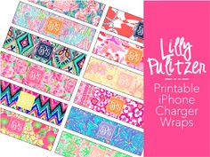 You Got Personal: Free Printable Monogrammed Lilly Pulitzer iPhone Charger Wraps