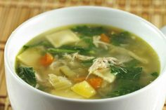 chicken soup with mini ravioli