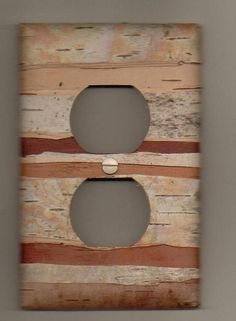 birch bark covered outlet.