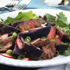 Steak & Purple Potato Salad