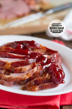 Cherry & Brown Sugar Glazed Ham