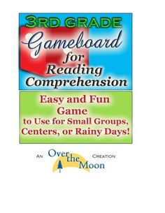 Third Grade: Reading Comprehension Gameboard for Any Story or Book!