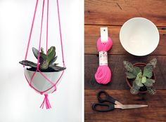 rainy day project // hanging plant holder