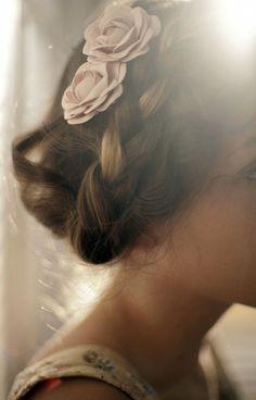Flowers and braids. #braids #fairytale #flowers #blonde #hair #pastels #romantic #hairdo