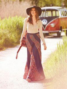 Swirl Maxi Skirt - Bohemian Collection 10/2013 Burda Style