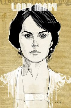 Lady Mary from Downton Abbey - artist Phil Noto