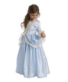 Another great find on #zulily! Blue Ruffle Parisian Princess Dress - Toddler & Girls #zulilyfinds