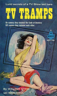 TV Tramps Pulp , by Walter Dyer   1962