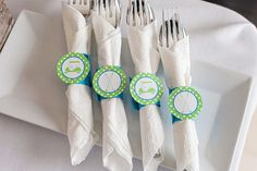 Cute Golf Party Napkin rings