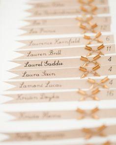 Arrow pin escort cards