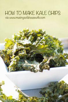 How to Make Kale Chips via @J O-Lynne Shane and http://www.musingsofahousewife.com #realfood #glutenfree #kale