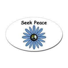 Seek Peace Oval Sticker