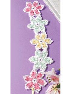 Gardener's Bookmark - free crochet pattern