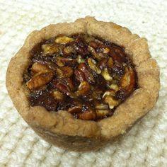 Gluten-free, Egg-free, Dairy-free Mini Pecan Pies vegan, plantbased, Earth Balance, Made Just Right