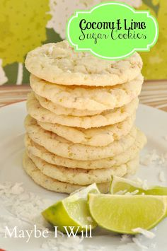 coconut lime sugar cookies on MyRecipeMagic.com