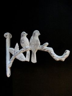 Bird Plant Hanger French Country White by andyourbirdisgreen, $15.00