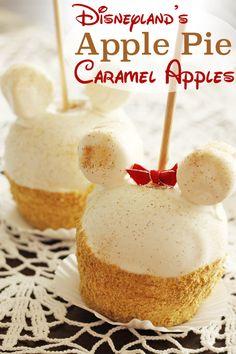 Disneyland Apple Pie Caramel Apples