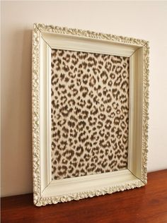 pretty pin board with frame DIY