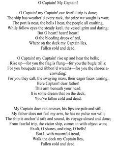 critical analysis of oh captain my The sloeblack, slow, black, crowblack, fishingboatbobbing sea   dark in dylan thomas' under milk wood photograph: alamy.