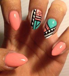 Customized Aztec Press On Nails