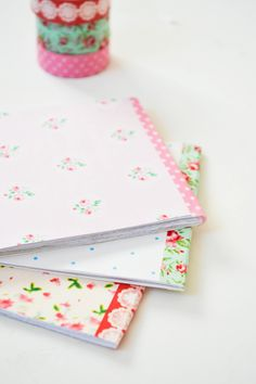 Craft A Doodle Doo: DIY Notepads made with your favorite decorative papers
