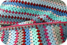 Granny stripe blanket - edging tutorial