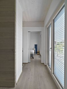 Contemporary Meets Modern Styles for a Home in Italy: Small Alley Space Design Idea Applied In Home In Tollegno  Design With Wooden Flooring...