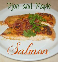 Sweet & Savory Maple and Dijon Salmon on MyRecipeMagic.com. Simple to make and absolutely delicious! #recipe #salmon