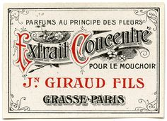 Fancy Paris Label from  *The Graphics Fairy LLC*