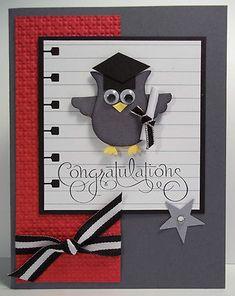 owl punch cards stampin up, graduat card, graduation cards cricut, graduation cards ideas, graduation card ideas, cards for graduation, owl card, simpl graduat, graduation card cricut