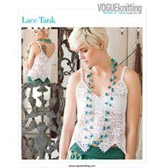 Crochet Lace Tank by Vogue Knitting lace tank