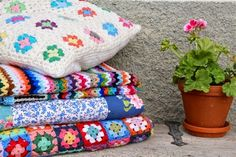 My Rose Valley shares her beautiful colorful #crochet work