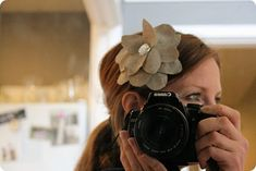 hair clip - easier than cutting out flower shapes!