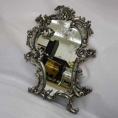 Claudette Mirror Silver Leaf