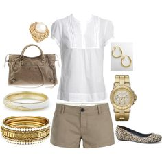 Can't go wrong with white and khaki ever.....:)  #style #fashion