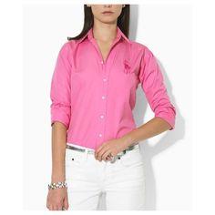 Ralph Lauren Coton Shirt Femme rose