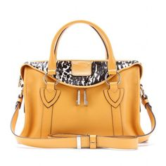 Marc Jacobs Small Fluton Haircalf And Leather Tote ($1,622) ❤ liked on Polyvore