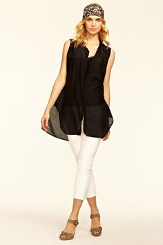 Karla Sleeveless Top. Flowy, simple, and chic.