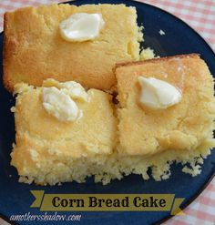 #Cornbread Cake goes great with chili or a baked potato.  Sweeter than the average cornbread, even cornbread haters love it!  at AMothersShadow.com