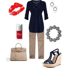 """""""Red/Navy"""" by wcatterton on Polyvore"""