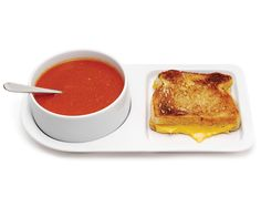The Soup and Sandwich Ceramic Tray Duo comes with two trays and two bowls. Now that's a delicious duo!