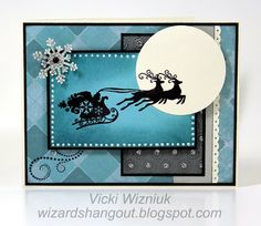 Christmas card - I like the colors and overlaping the stamp.