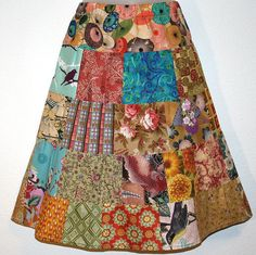 love this patchwork skirt!