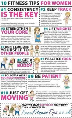 10 Fitness Tips for Women #fitnesstips #sassyfitgirl #infographic