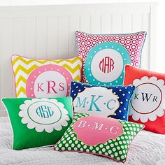 Monogram Pillow Cover #pbteen